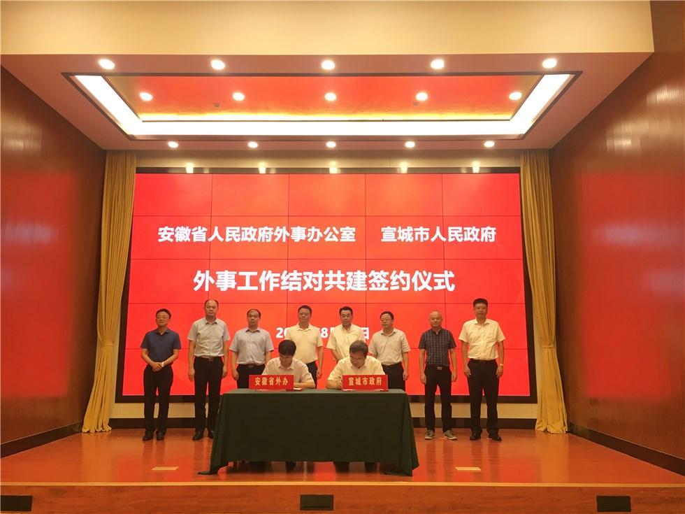 市政府與省外辦舉行工作會談并簽訂省市外事工作結對共建協議