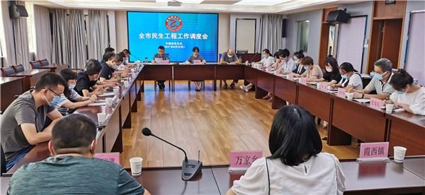 市民生办组织召开8月份民生工程工作调度例会