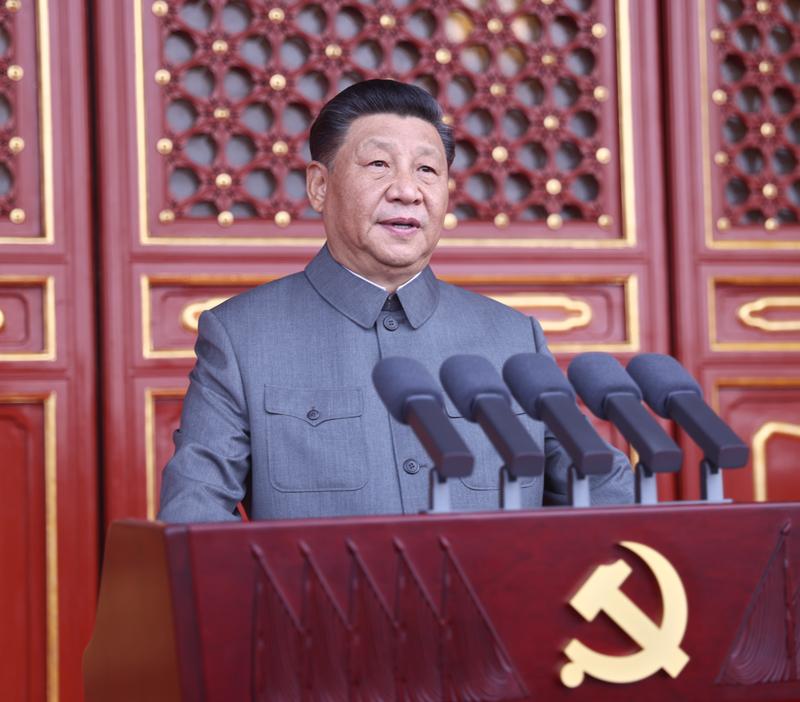 庆贺中国共产党建立100周年大会盛大进行 习近平颁发主要发言